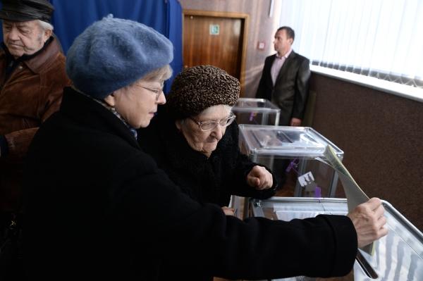 Голосование на выборах в Верховную Раду в Киеве