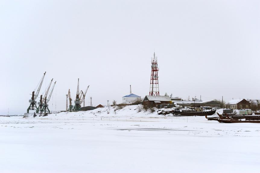 Вид на Нарьян-Мар с реки Печоры