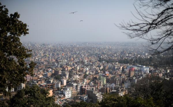 Непал. Вид на город Катманду