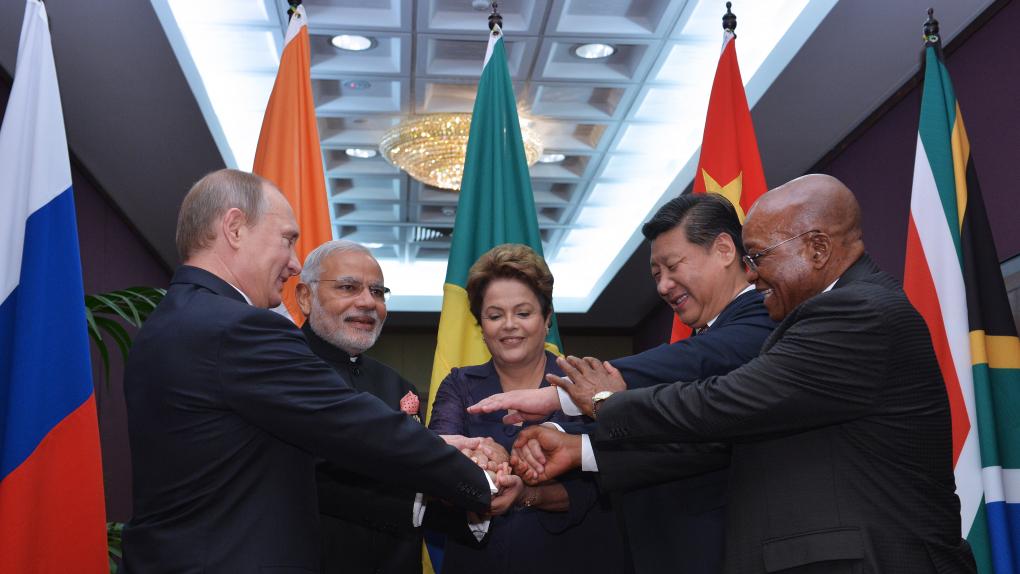 Встреча лидеров стран БРИКС перед началом саммита G20 в Австралии в ноябре 2014 года