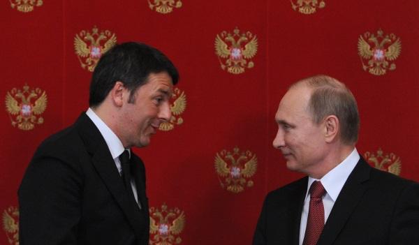 Встреча Владимира Путина и премьер-министр Италии Маттео Ренци 5 марта 2015 года