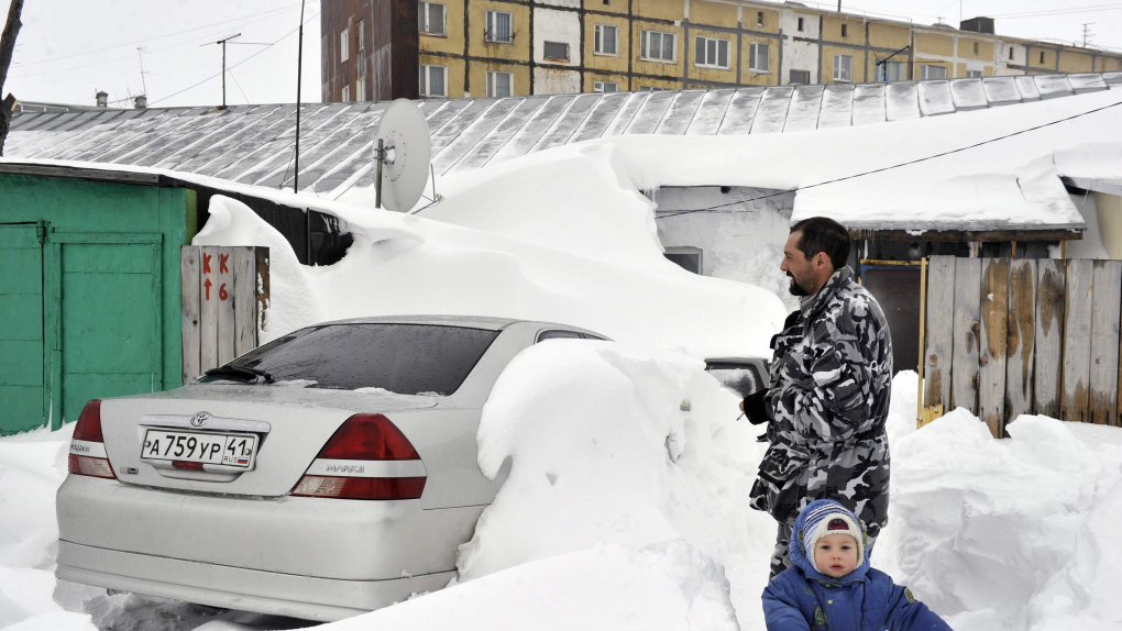 Петропавловск-Камчатский после снегопада