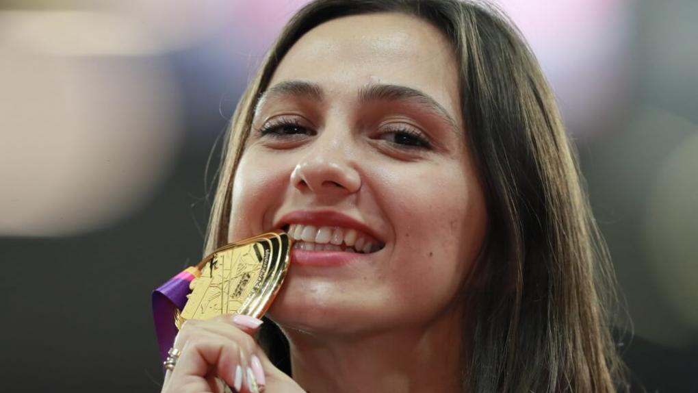 Мария Ласицкене, завоевавшая золотую медаль в прыжке в высоту