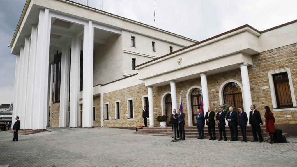 Фото: Здание посольства РФ в Абхазии