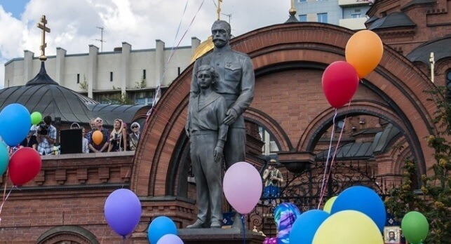 Открытие памятника в июле 2016 года