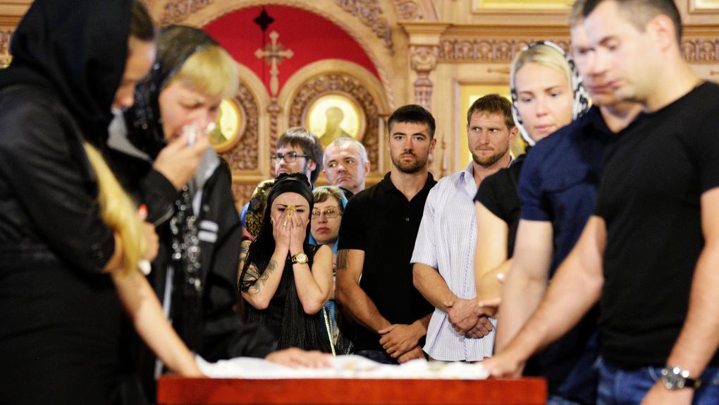 Прощание с погибшим Андреем Драчевым в Хабаровске
