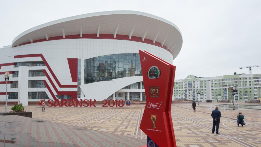 Часы обратного отсчета Чемпионата мира по футболу-2018 в Саранске