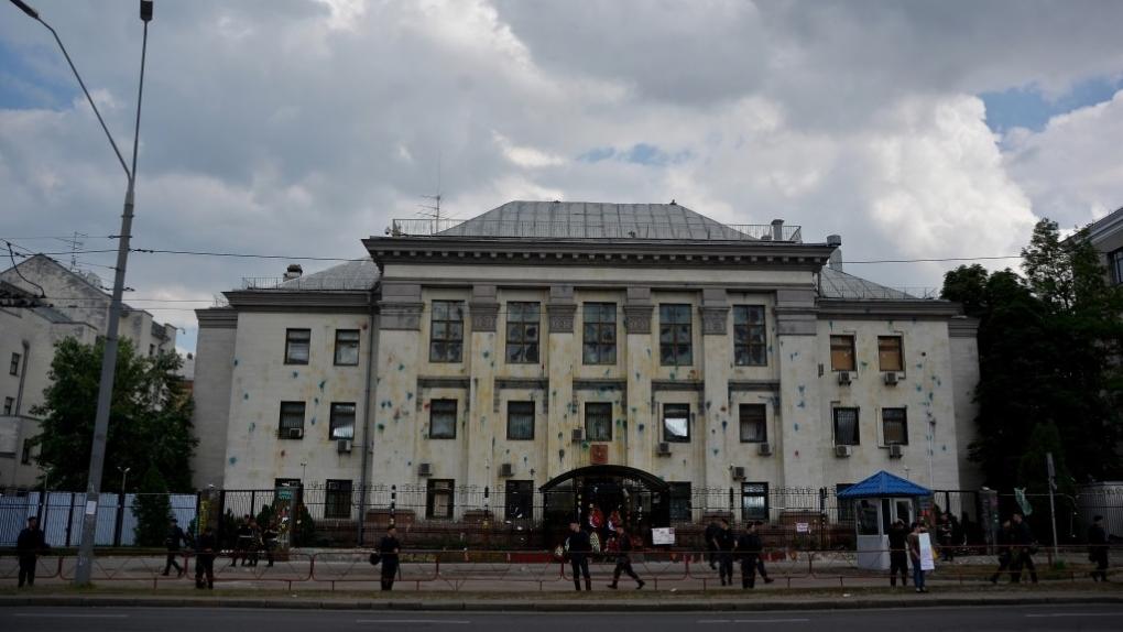 Здание посольства России на Украине в Киеве.