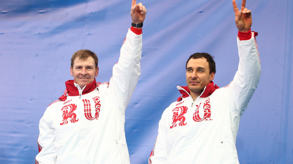 Александр Зубков и Алексей Воевода на Олимпиаде-2014