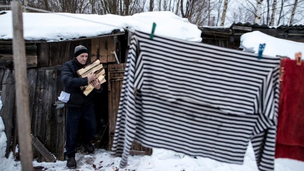 Житель города Торопца Тверской области. Март 2018 г.