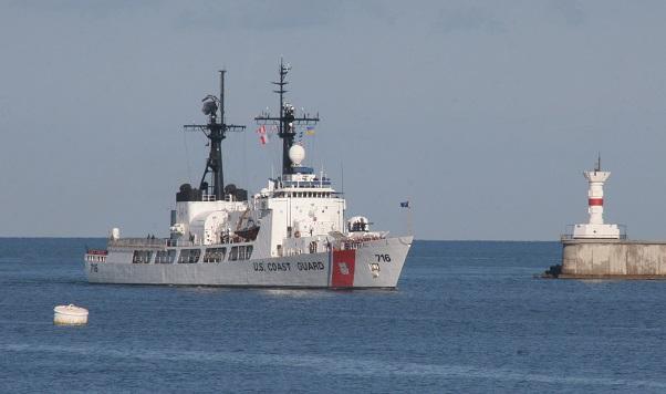Один из сторожевых кораблей НАТО в Черном море