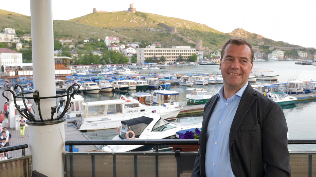 Визит Медведева в Балаклаву