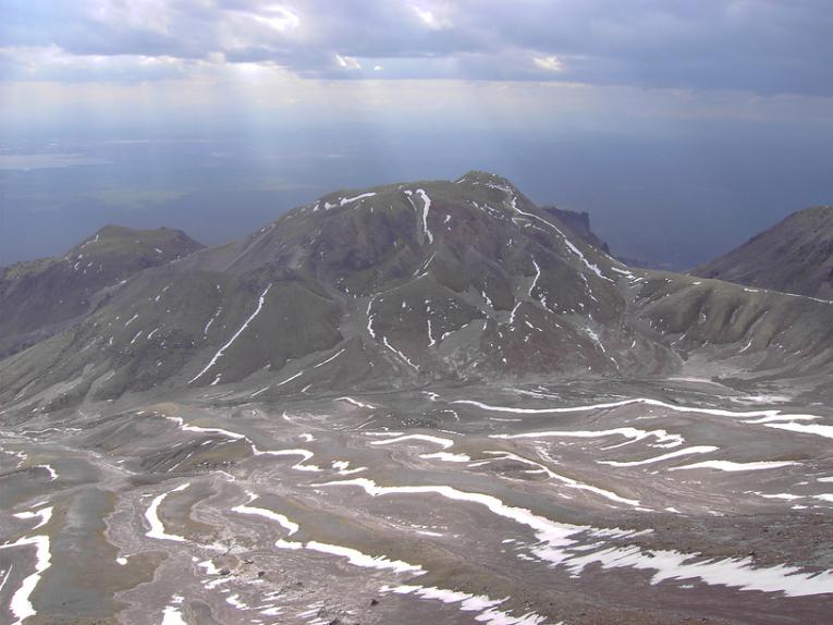 Склон вулкана Шивелуч