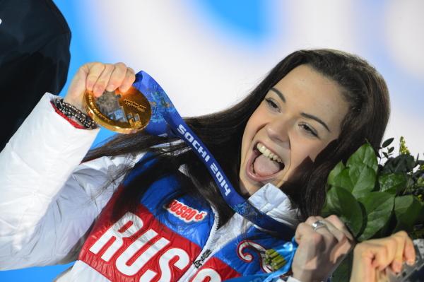 Олимпиада в Сочи. 21 февраля. Аделина Сотникова завоевала золотую медаль на соревнованиях в женском одиночном катании