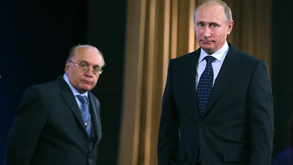 Виктор Садовничий и президент РФ Владимир Путин (слева направо)