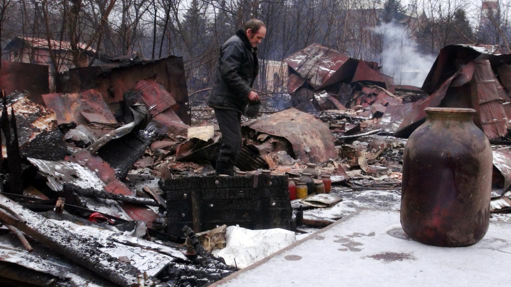 Работа бригады саперов МЧС в Донецке