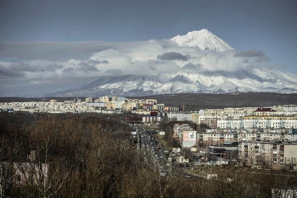 Вид на Петропавловск-Камчатский