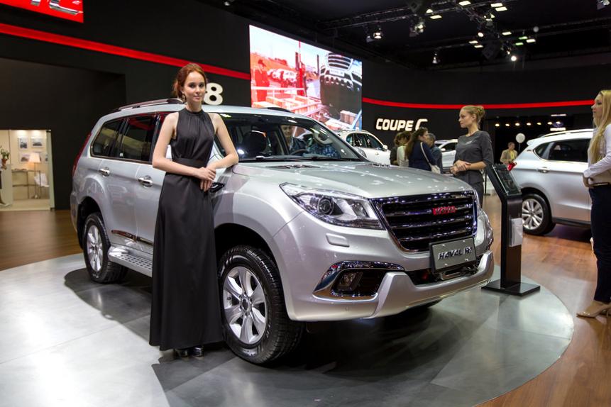 Автомобиль Haval H9 на Московском международном автомобильном салоне - 2014