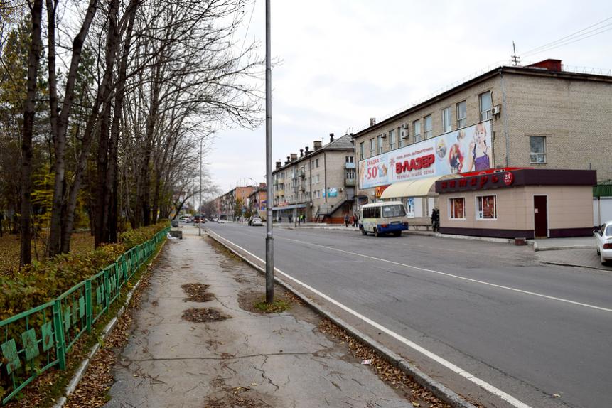 Вид одной из улиц города Спасск-Дальний
