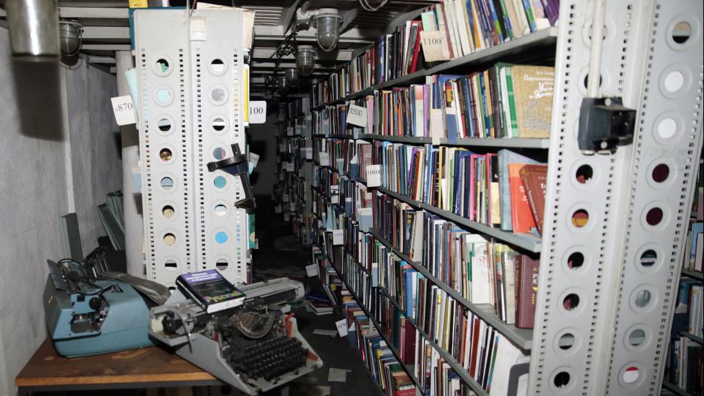 Последствия пожара в библиотеке ИНИОН