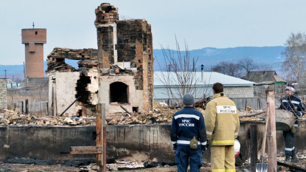 Последствия пожара в Хакасии