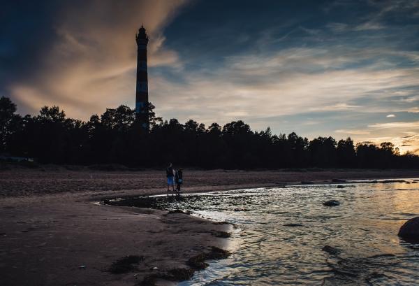 Осиновецкий маяк на берегу Ладожского озера во Всеволожском районе Ленобласти