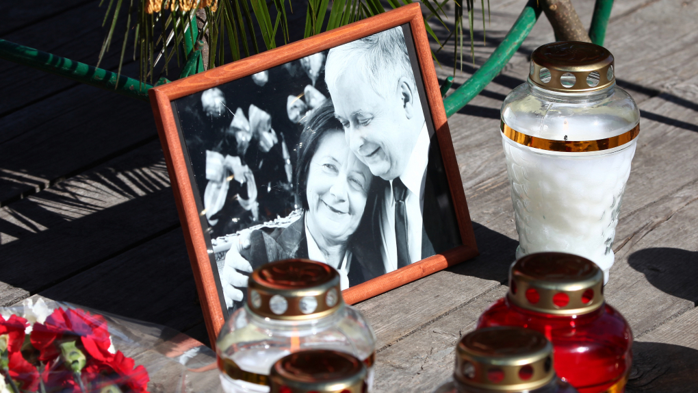 Лех Качиньский и его супруга Мария
