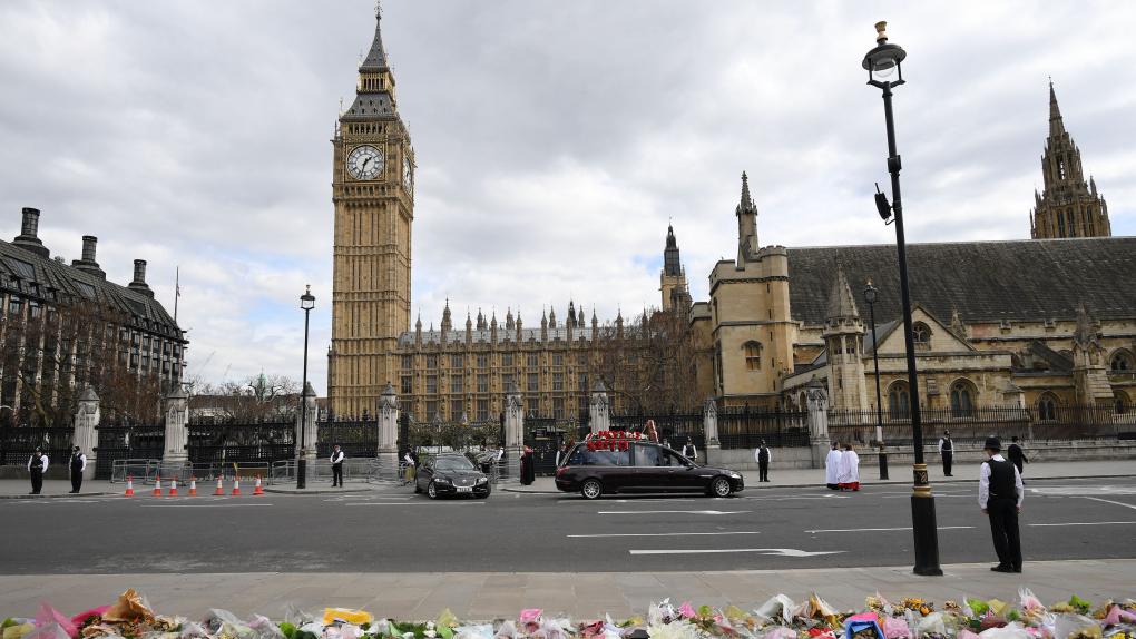 Похороны лондонского полицейского Кита Палмера, погибшего в результате теракта 22 марта 2017 года