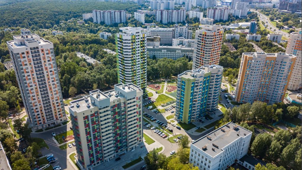 Новый квартал на проспекте Вернадского, построенный для переселения москвичей по программе реновации
