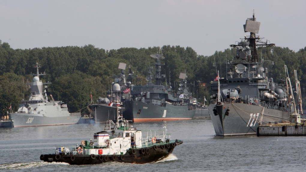 Вид на военную гавань города Балтийска