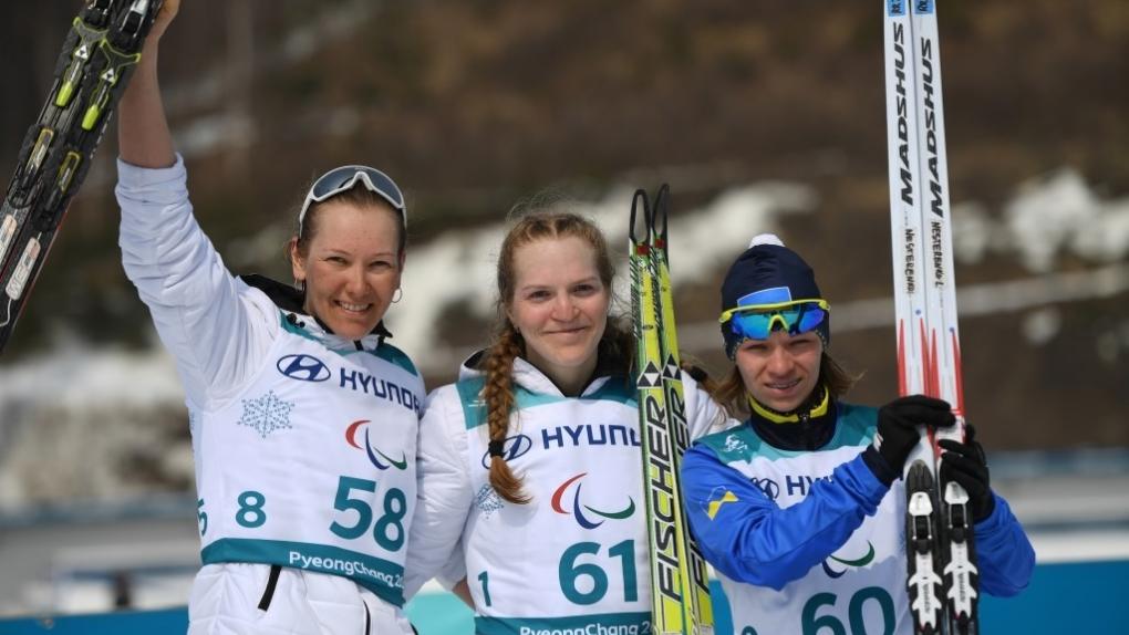 Слева направо: Анна Миленина (Россия), Екатерина Румянцева (Россия) и Людмила Ляшенко (Украина).