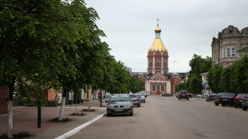 Вид на Вознесенский собор в Касимове