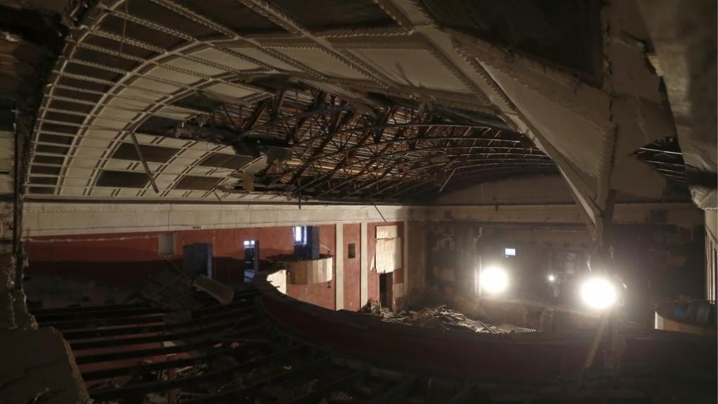 14 декабря 2016. Во время реконструкции кинотеатра