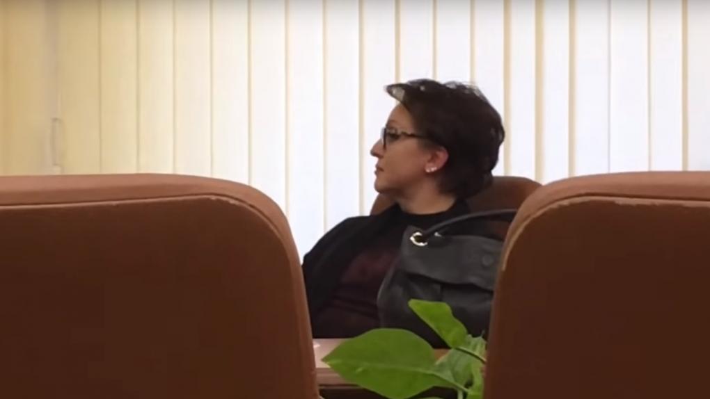 Скриншот с видео спора между Соколовой и Бондаренко