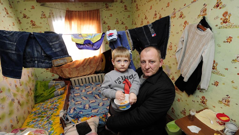 Пункт временного размещения беженцев с юго-востока Украины в Приморском крае