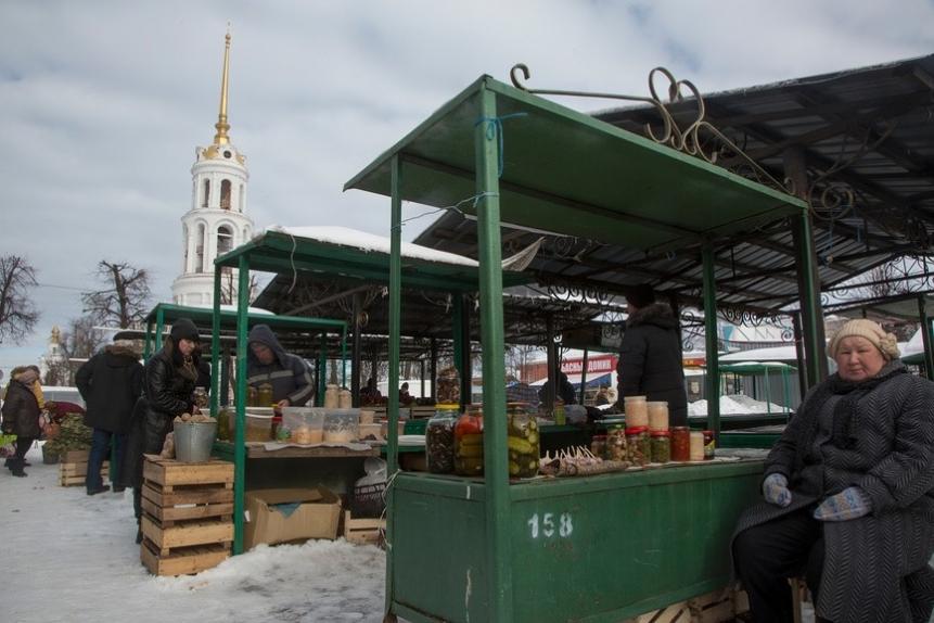 Рынок города Шуя Ивановской области