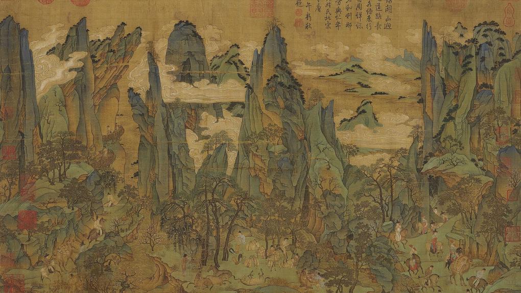 Ли Чжаодао. Путешествие Минхуана в Шу